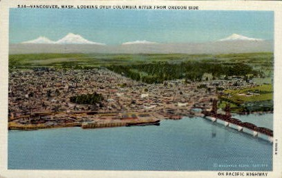 Columbia River - Vancouver, Washington WA Postcard
