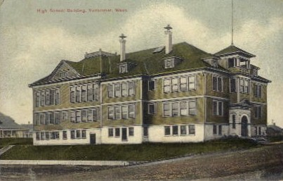 High School Building - Vancouver, Washington WA Postcard