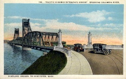 Pacific Interstate Bridge - Vancouver, Washington WA Postcard