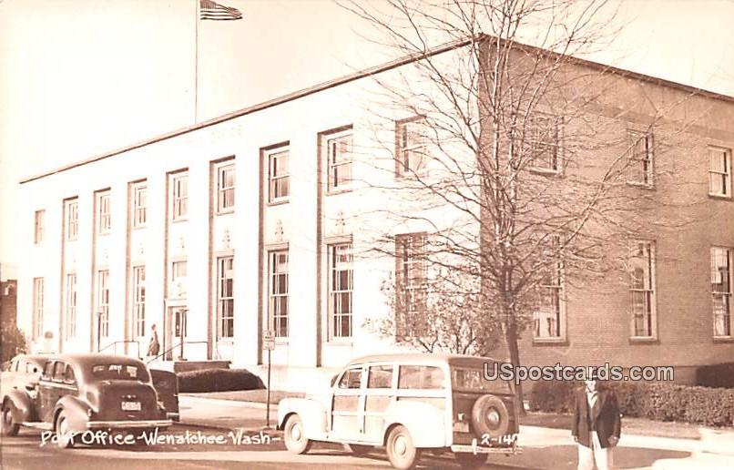 Post Office - Wenatchee, Washington WA Postcard