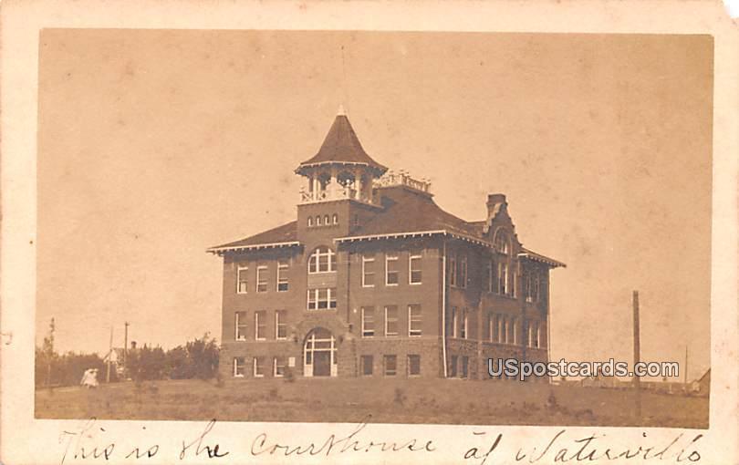 Courthouse - Watirvills, Washington WA Postcard
