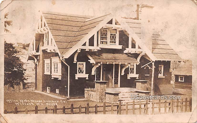 Office of Veness Lumber Co - Winlock, Washington WA Postcard