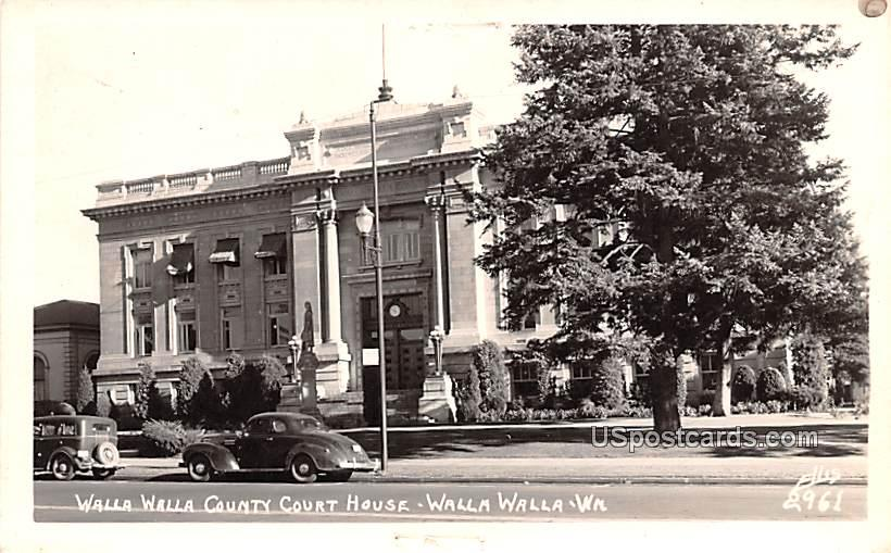 Walla Walla County Court House - Washington WA Postcard