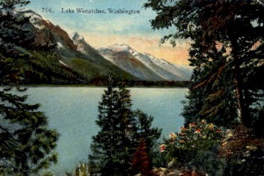 Lake Wenatchee - Washington WA Postcard