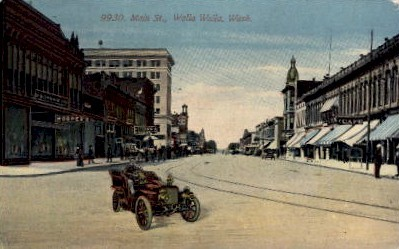 Main Street - Walla Walla, Washington WA Postcard