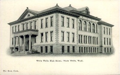 Walla Walla High School - Washington WA Postcard
