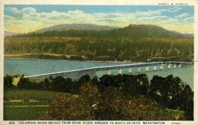 Columbia River Bridge - White Salmon, Washington WA Postcard
