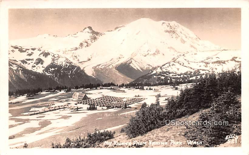 Mount Rainier - Yakima Park, Washington WA Postcard