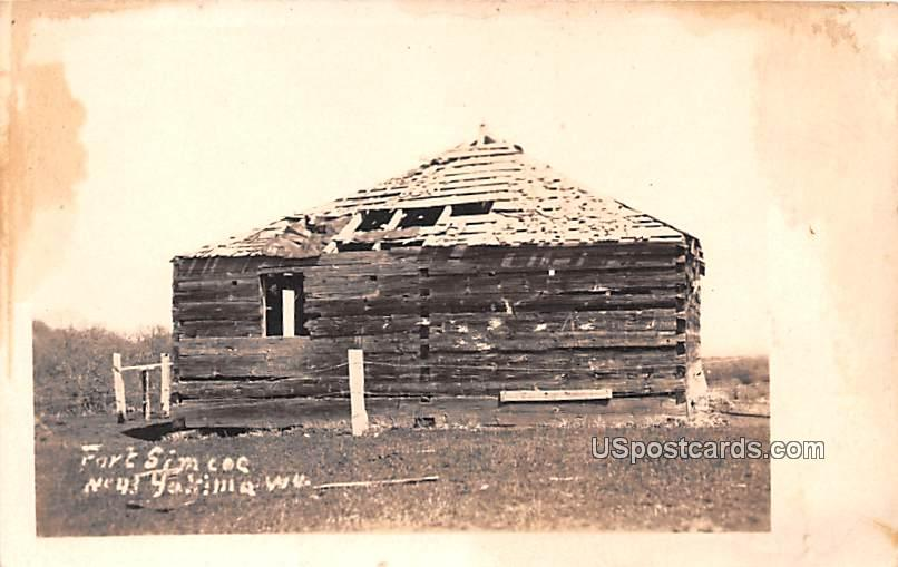 Fort Simcoc - Yakima, Washington WA Postcard