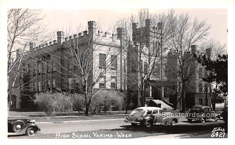 High School - Yakima, Washington WA Postcard