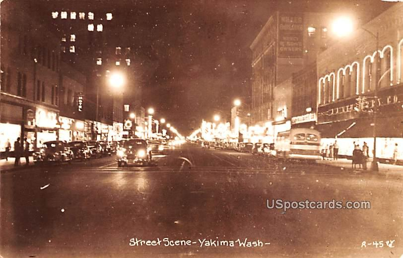 Street Scene - Yakima, Washington WA Postcard