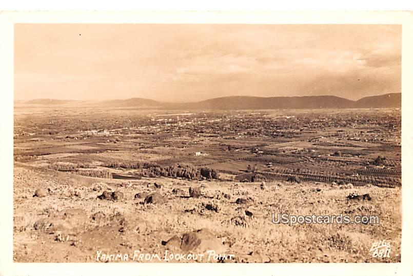 From Lookout Point - Yakima, Washington WA Postcard