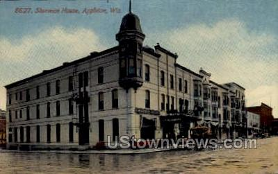 Sherman House - Appleton, Wisconsin WI Postcard