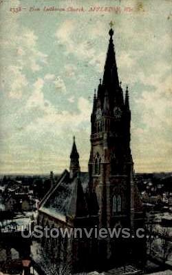 Zion Lutheran Church - Appleton, Wisconsin WI Postcard
