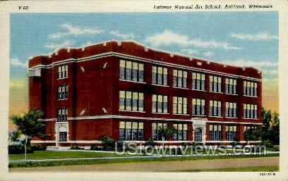 Latimer Manual Art School - Ashland, Wisconsin WI Postcard
