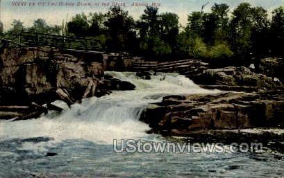 Eau Claire River at the Dells - Antigo, Wisconsin WI Postcard