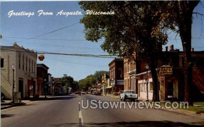 Greetings From - Augusta, Wisconsin WI Postcard