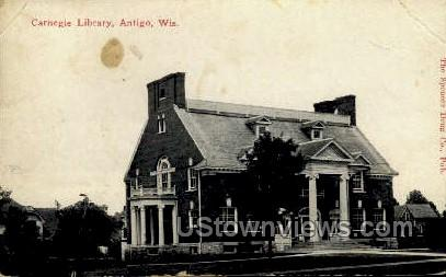 Carnegie Library - Antigo, Wisconsin WI Postcard
