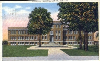 Memorial Hospital - Antigo, Wisconsin WI Postcard