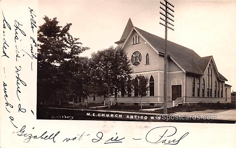 ME Church - Antigo, Wisconsin WI Postcard