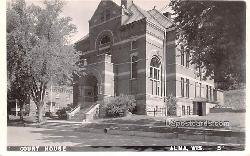 Court House - Alma, Wisconsin WI Postcard