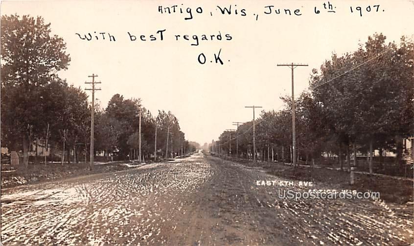 East 5th Avenue - Antigo, Wisconsin WI Postcard