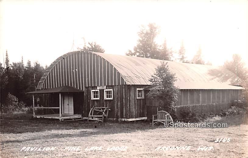Pavilion Pine Lake Lodge - Argonne, Wisconsin WI Postcard