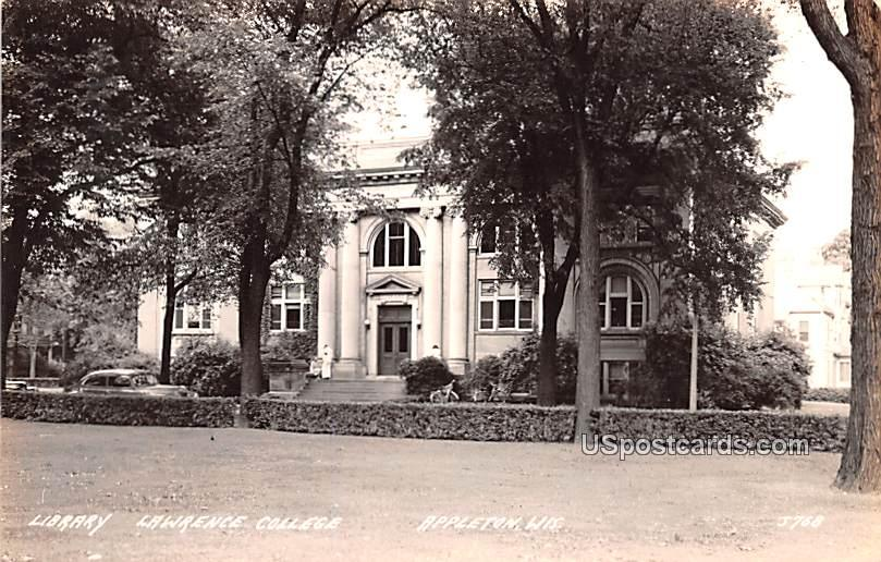 Library Lawrence College - Appleton, Wisconsin WI Postcard
