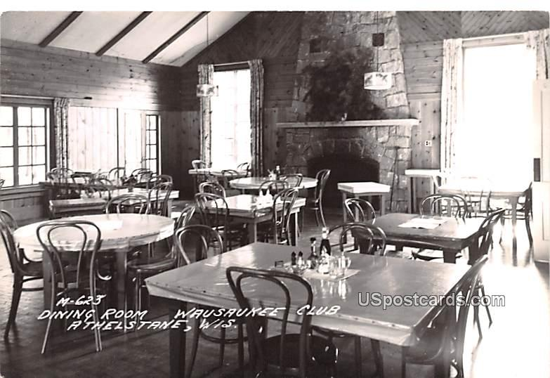 Dining Hall - Athelstane, Wisconsin WI Postcard