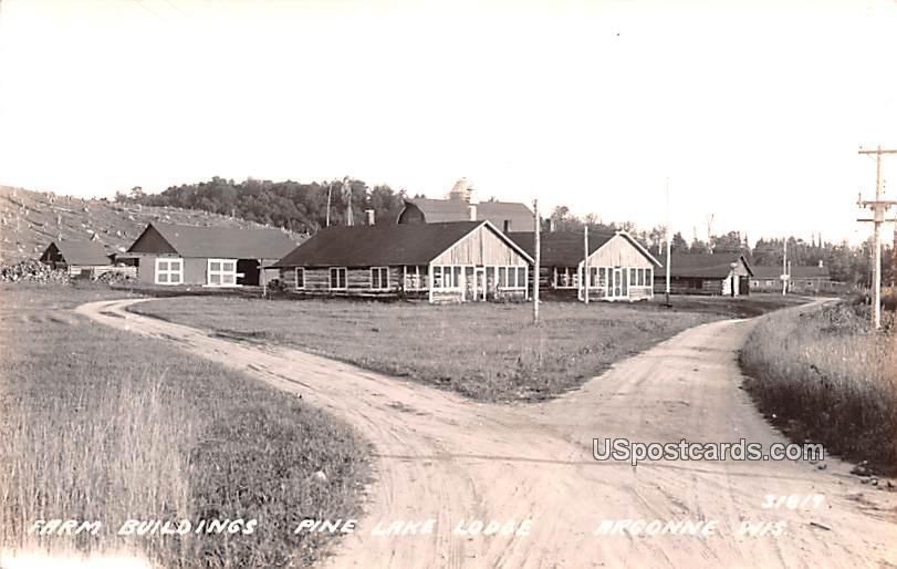 Farm Buildings - Argonne, Wisconsin WI Postcard