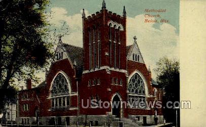 Methodist Church - Beloit, Wisconsin WI Postcard