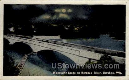 Baraboo River - Wisconsin WI Postcard
