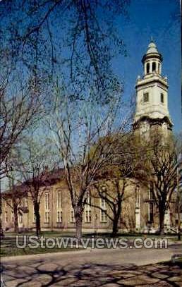 The First Congretional Church - Beloit, Wisconsin WI Postcard