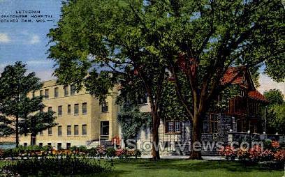 Lutheran Hospital - Beaver Dam, Wisconsin WI Postcard