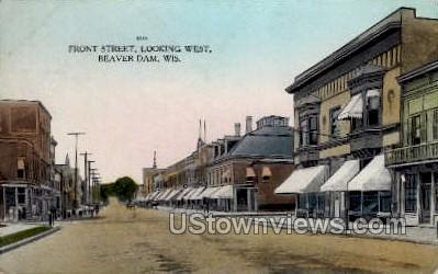Front Street - Beaver Dam, Wisconsin WI Postcard