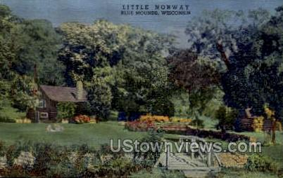 Little Norway - Blue Mounds, Wisconsin WI Postcard
