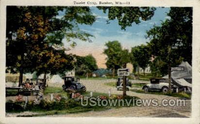 Tourist Camp - Baraboo, Wisconsin WI Postcard