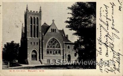 M. E. Church  - Beloit, Wisconsin WI Postcard
