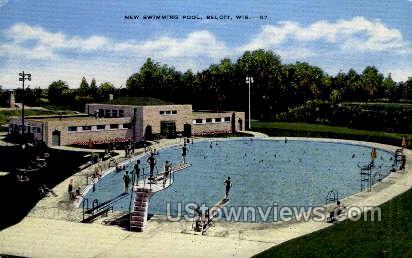 New Swimming Pool - Beloit, Wisconsin WI Postcard