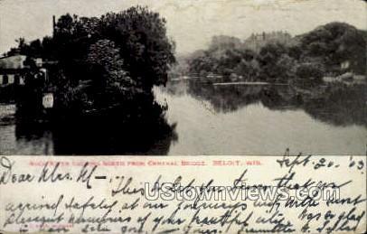 Rock River - Beloit, Wisconsin WI Postcard
