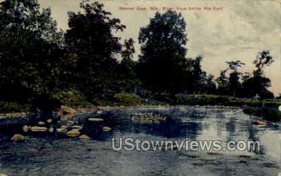 River - Beaver Dam, Wisconsin WI Postcard