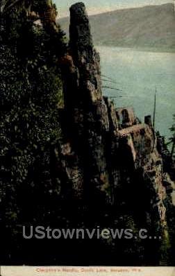Cleopatra's Needle - Baraboo, Wisconsin WI Postcard