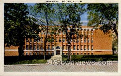 High school - Baraboo, Wisconsin WI Postcard