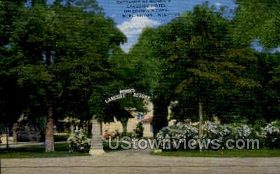 Moore's Lakeside Hotel - Burlington, Wisconsin WI Postcard