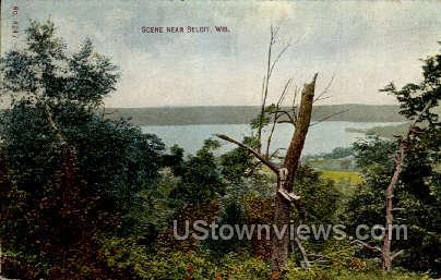 Scene - Beloit, Wisconsin WI Postcard