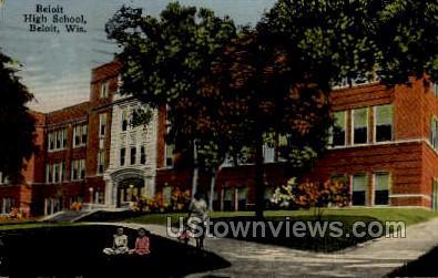 Beloit High School - Wisconsin WI Postcard