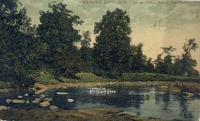 Beaver Dam, WI,     ;     Beaver Dam, Wisconsin Postcard