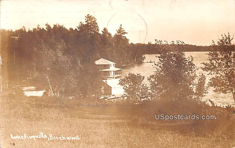 Lake Augusta - Birchwood, Wisconsin WI Postcard