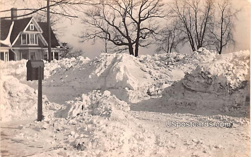 Winter Snow Scene - Baraboo, Wisconsin WI Postcard