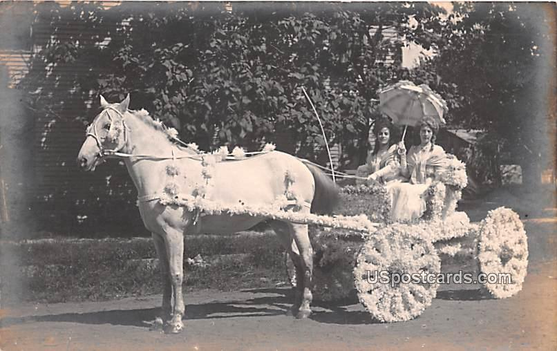 Horse and Carriage - Belsit, Wisconsin WI Postcard